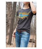 "Womens Continental Divide Trail ""United Landscapes"" t-shirt grey CDT lifestyle"