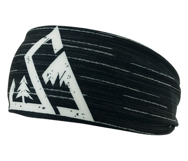 unisex seek dry goods active outdoor headband black front