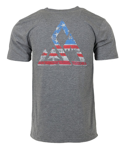 "Mens Seek Dry Goods outdoor artist series ""home of the brave"" back t-shirt grey"