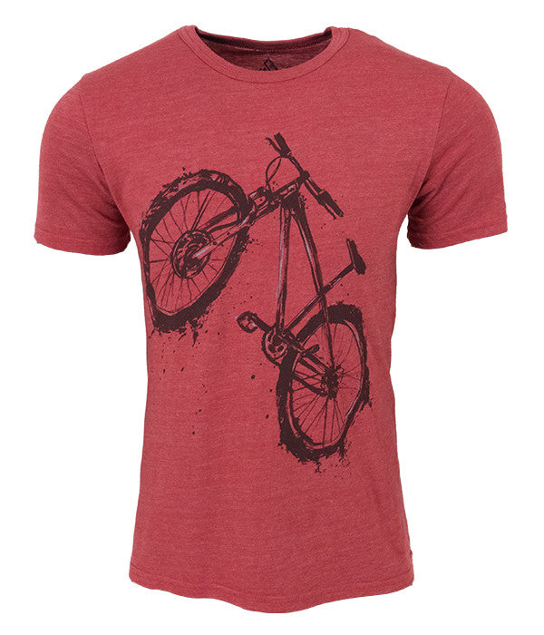 "Mens Seek Dry Goods outdoor artist series ""mudder"" tri blend t-shirt red"