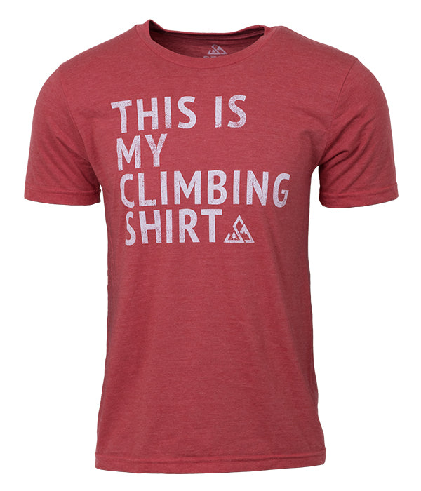 "Mens Seek Dry Goods outdoor artist series ""my climbing shirt"" t-shirt red"