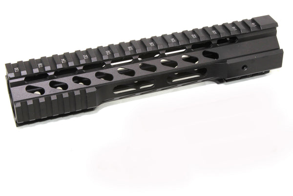 "10"" ULTRA-LIGHT Super Slim Hybrid Keymod Handguard Free Float AR15 223 5.56 - Clamp on style - AR15 handguard, super slim free float ar15 handguard"