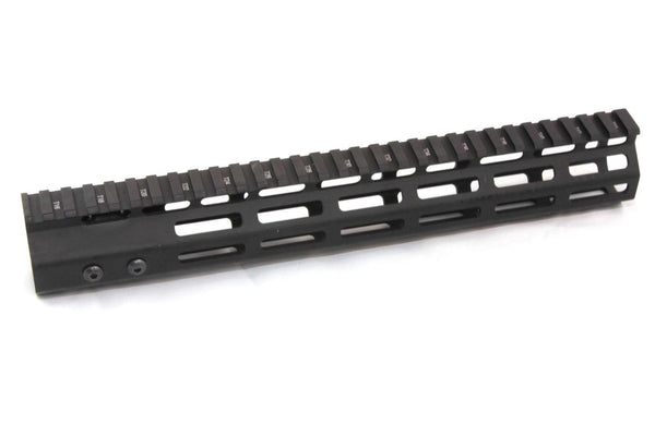 "12"" ULTRA-LIGHT Super Slim MLOK Handguard Free Float AR15 223 5.56"