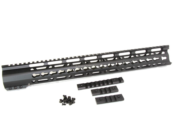 "16.5"" ULTRA-LIGHT Super Slim Keymod Handguard Free Float AR10 308 - Clamp on style - AR15 handguard, Ar10 slim keymod handguard"