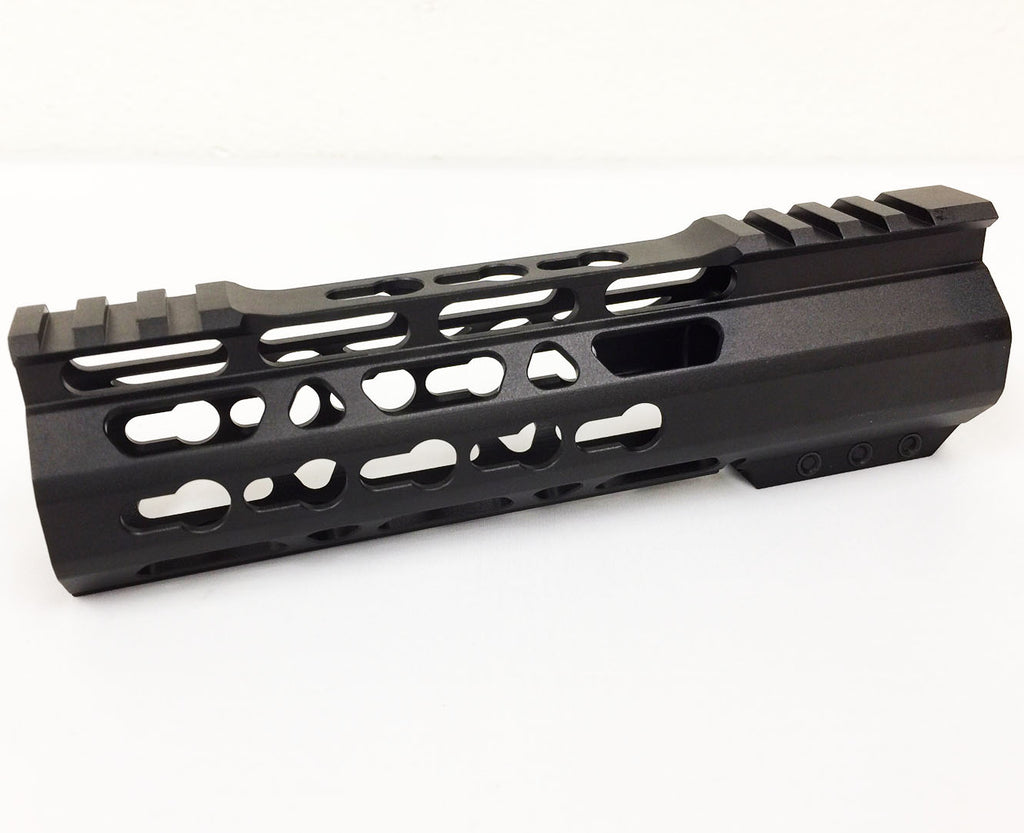 "7"" ULTRA-LIGHT Super Slim Keymod Handguard Free Float CLAMP ON style AR15 223 5.56"