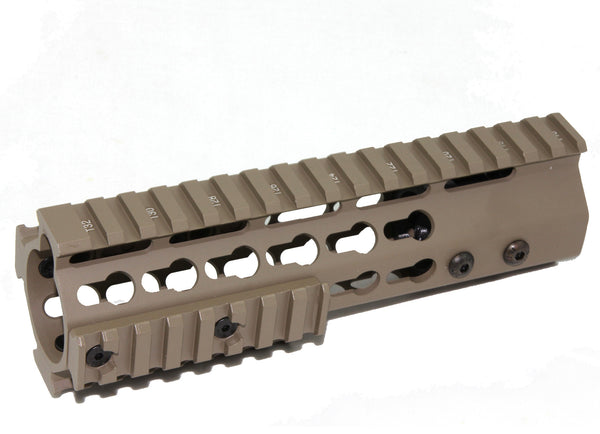 "FDE- 7"" ULTRA-LIGHT Super Slim Keymod Handguard One Piece Free Float AR15 223 5.56 - Flat Dark Earth color - AR15 handguard, Ar15 Free float handguard, Ar10 keymod handguard, Ar10 handguard, Ar15 keymod handguard, Ar15 slim handguard, Ar15 quad rail handguard, Ar15 gas block, Ar15 buffer tube, Ar15 muzzle brake, Ar15 gas tube, Ar 15 handguard, affordable ar 15 free float handguard, AR 15 handguard USA, ar 15 handguard, ar 15 hand guard"