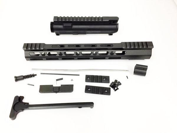 "Upper kit - 12.5"" Slim Mlok Handguard Free Float +upper receiver+gas tube+gas Block AR15 223 5.56"