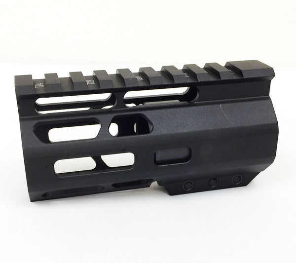 "4.2"" Ultra-Light Super Slim Mlok Handguard Free Float CLAMP ON style AR15 223 5.56"