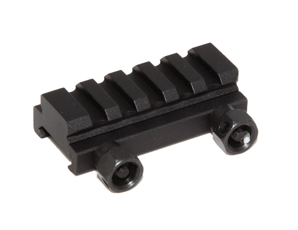 "1/2"" RISER 5-Slot Low Riser WEAVER PICATINNY Scope Mount Rail AR15 223 5.56 - AR15 handguard, Ar15 Free float handguard, Ar10 keymod handguard, Ar10 handguard, Ar15 keymod handguard, Ar15 slim handguard, Ar15 quad rail handguard, Ar15 gas block, Ar15 buffer tube, Ar15 muzzle brake, Ar15 gas tube, Ar 15 handguard, affordable ar 15 free float handguard, AR 15 handguard USA, ar 15 handguard, ar 15 hand guard"