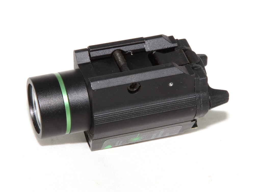 Pistol Strobe Green Laser Sight + CREE Flashlight 250 lumens - AR15 handguard, Ar15 Free float handguard, Ar10 keymod handguard, Ar10 handguard, Ar15 keymod handguard, Ar15 slim handguard, Ar15 quad rail handguard, Ar15 gas block, Ar15 buffer tube, Ar15 muzzle brake, Ar15 gas tube, Ar 15 handguard, affordable ar 15 free float handguard, AR 15 handguard USA, ar 15 handguard, ar 15 hand guard