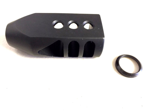 "Muzzle Brake - AR15 223 Tanker Muzzle brake 1/2""-28 Triangular Baffles w/washer"