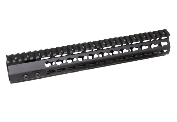 "12"" ULTRA-LIGHT Super Slim Keymod Handguard One Piece Free Float AR15 223 5.56"