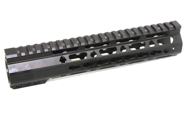 "10"" ULTRA-LIGHT Super Slim Keymod Handguard Free Float Clamp On Handguard AR15 223 5.56"