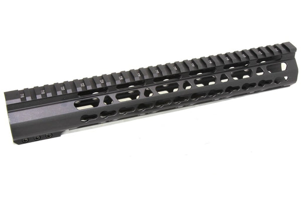 "12.5"" ULTRA-LIGHT Super Slim Keymod Handguard Free Float AR10 308, Ar15 Upper"