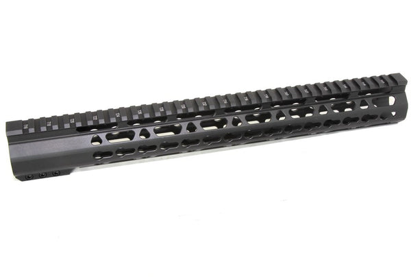 "15"" ULTRA-LIGHT Super Slim Keymod Handguard Free Float AR10 308 - Clamp on style"