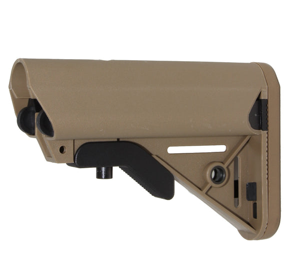 STOCK KIT BUFFER TUBE CHEEK REST 6-POSITION MIL SPEC CARBINE STOCK AR15 223 5.56 FDE/TAN - AR15 handguard, Ar15 Free float handguard, Ar10 keymod handguard, Ar10 handguard, Ar15 keymod handguard, Ar15 slim handguard, Ar15 quad rail handguard, Ar15 gas block, Ar15 buffer tube, Ar15 muzzle brake, Ar15 gas tube, Ar 15 handguard, affordable ar 15 free float handguard, AR 15 handguard USA, ar 15 handguard, ar 15 hand guard