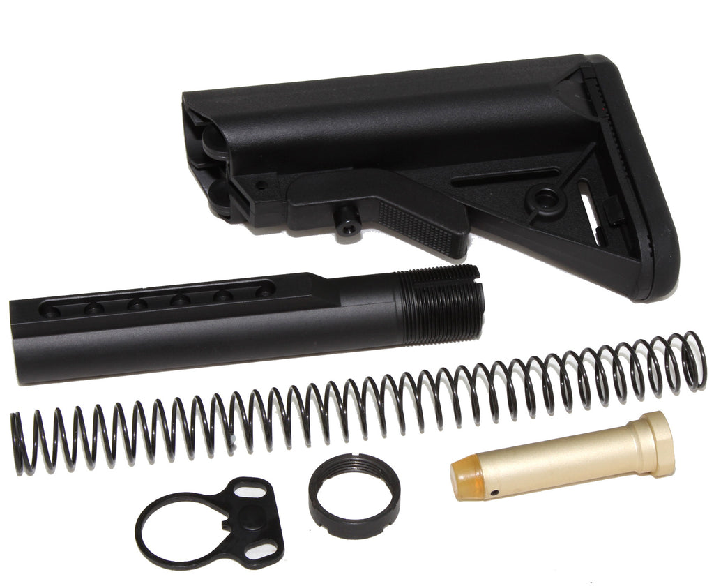 STOCK KIT BUFFER TUBE CHEEK REST 6-POSITION MIL SPEC CARBINE STOCK AR15 223 5.56 - AR15 handguard, Ar15 Free float handguard, Ar10 keymod handguard, Ar10 handguard, Ar15 keymod handguard, Ar15 slim handguard, Ar15 quad rail handguard, Ar15 gas block, Ar15 buffer tube, Ar15 muzzle brake, Ar15 gas tube, Ar 15 handguard, affordable ar 15 free float handguard, AR 15 handguard USA, ar 15 handguard, ar 15 hand guard