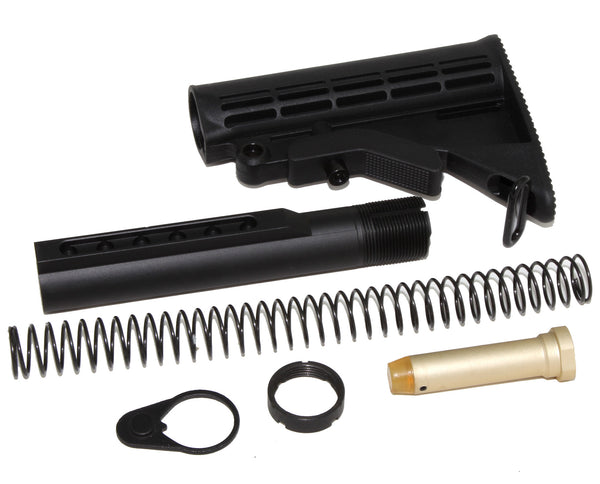 STOCK KIT BUFFER TUBE 6-POSITION KIT MIL SPEC FOR CARBINE STOCK AR15 223 5.56 - AR15 handguard, Ar15 Free float handguard, Ar10 keymod handguard, Ar10 handguard, Ar15 keymod handguard, Ar15 slim handguard, Ar15 quad rail handguard, Ar15 gas block, Ar15 buffer tube, Ar15 muzzle brake, Ar15 gas tube, Ar 15 handguard, affordable ar 15 free float handguard, AR 15 handguard USA, ar 15 handguard, ar 15 hand guard