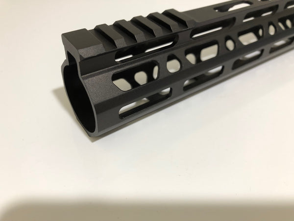 "15"" Ultra-Light Super Slim MLok Handguard Free Float AR15 223 5.56 - Clamp on style"