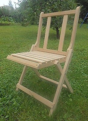 Wooden Folding Chair Small Seat Children Camping Seat Fishing Stool - Handcrafted Wood, Iron & Copper