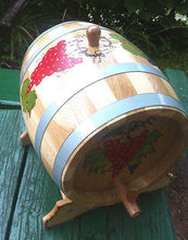 European Oak Wood Barrel Keg for Wine, Whiskey, Spirits Handmade10 Liter 2.6 Us Gal - Handcrafted Wood, Iron & Copper