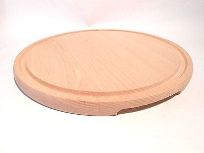 Wooden Chopping Cutting Board Wood Butcher Block Serving Platter Large 30cm - Handcrafted Wood, Iron & Copper