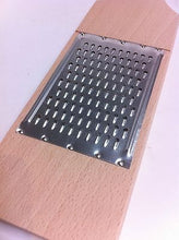 Wooden Vegetable Grater Cheese Fruit Grater 12 inches 31cm - Handcrafted Wood, Iron & Copper