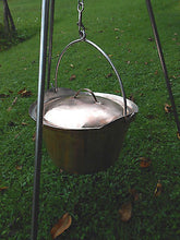 Hand Made Copper Cauldron Picnic Kettle Pot Campfire Cooking Tripod 8 Liters 2 Gallons - Handcrafted Wood, Iron & Copper