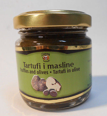 Gourmet White Truffles and Olives Truffles Spread 80 grams 2.82oz - Handcrafted Wood, Iron & Copper