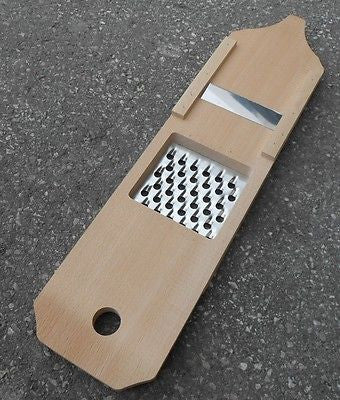 Wooden Cheese Vegetable Shredder Slicer Grater 50cm - 19.7 inch - Handcrafted Wood, Iron & Copper