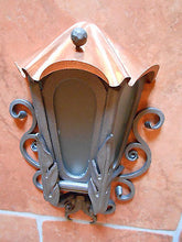 Luxury Hand Forged Sconce Outdoor Lamp Light Copper Roof 42cm - Handcrafted Wood, Iron & Copper