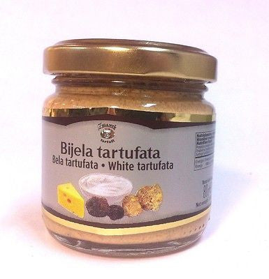 Gourmet White Truffles White Tartufata with Cheese 80grams 2.8oz - Handcrafted Wood, Iron & Copper