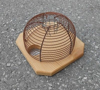 Mouse Trap Live Mice Catcher Traditional European Vintage Look - Handcrafted Wood, Iron & Copper