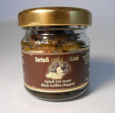 Gourmet Black Truffles Chopped Trüffeln 30 grams 1.06oz - Handcrafted Wood, Iron & Copper