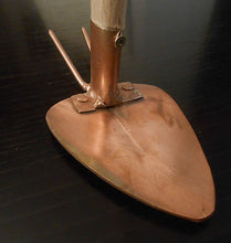 Copper Garden Hoe & Fork Cultivator Copper Garden Tool - Handcrafted Wood, Iron & Copper