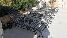 Hand Forged Deckchair Lounge Chair Handmade Daybed Rust Protection - Handcrafted Wood, Iron & Copper