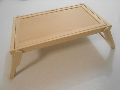 ... Breakfast Bed Table Beech Wood Flip Tray Folding Table Reading Drawing  Serving   Handcrafted Wood, ...