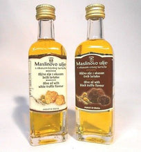 Extra Virgin Olive Oil with White Truffles 60ml 2.12oz Tuber Magnatum - Handcrafted Wood, Iron & Copper