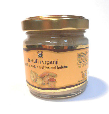 Gourmet White Truffles Paste with Boletus Truffles Spread 80 grams 2.82oz - Handcrafted Wood, Iron & Copper