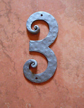 "Hand-Forged Wrought Iron House Numbers From 0 - 9 Height 8.4"" Handmade - Handcrafted Wood, Iron & Copper"