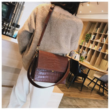 Simple Women's Designer Handbag PU Leather Women Tote Bag Alligator Shoulder Crossbody Bags - Handcrafted Wood, Iron & Copper
