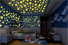 100 pcs. 3D Stars Glow in the Dark Luminous Stickers Wall Glowing Stickers for Kids Room Living Room Wall Decal Home Decoration - Handcrafted Wood, Iron & Copper