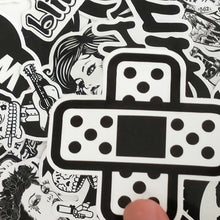 60 PCS Black and White Cool Stickers For Skateboard Laptop Luggage Snowboard Fridge Phone Toy Styling Home Decor Stickers - Handcrafted Wood, Iron & Copper