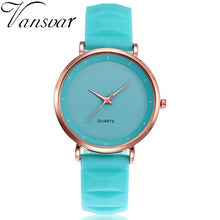 Women Watch Luxury Casual Ladies Quartz Clock Wristwatch Fashion Jelly Silicone - Handcrafted Wood, Iron & Copper