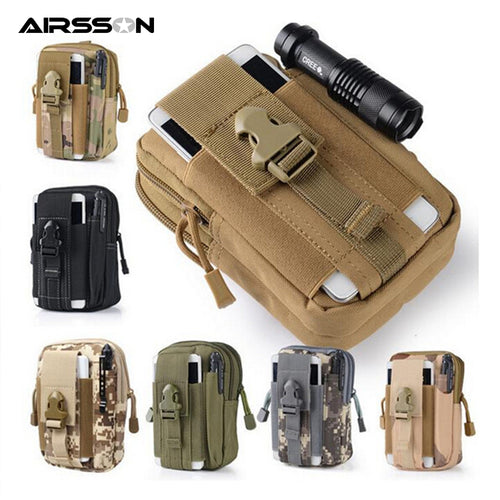 Tactical Pouch Molle Hunting Bags Belt Waist Bag Military Fanny Pack Outdoor Pouches Phone Case Pocket - Handcrafted Wood, Iron & Copper