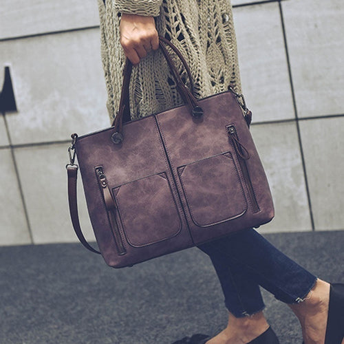 Vintage Women Shoulder Bag Female Causal Totes Messenger Bag for Daily Shopping All-Purpose High Quality Dames Crossbody Handbag - Handcrafted Wood, Iron & Copper