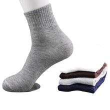 5 Pairs All Seasons Men's Business Socks Casual Cotton Socks Spring Summer Autumn Winter Solid Colors Crew Socks Male Breathable Socks - Handcrafted Wood, Iron & Copper