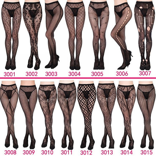 Womens Sexy Fishnet Tights Pantyhose Garter Stockings Sexy Lingerie Collant - Handcrafted Wood, Iron & Copper