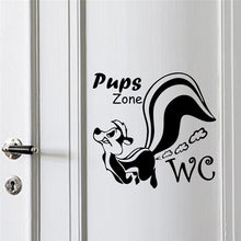 WC Toilet Entrance Sign Door Stickers For Public Place Home Decoration Creative Pattern Wall Decals Diy Funny Mural Art - Handcrafted Wood, Iron & Copper