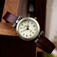 New Fashion Women Watch Leather Wristwatch - Handcrafted Wood, Iron & Copper